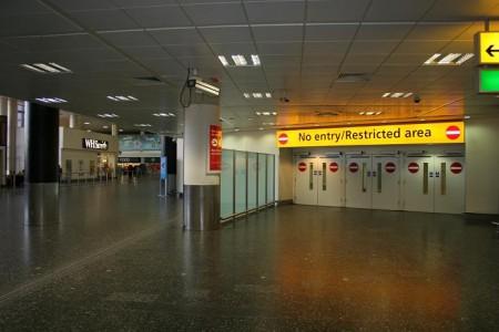 Ištuštėjęs Londono Getviko oro uostas